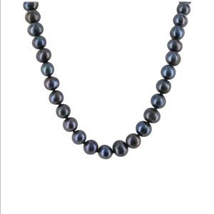 """Jewelry - 28"""" Hand-knotted 7mm Genuine Black Pearl Necklace"""